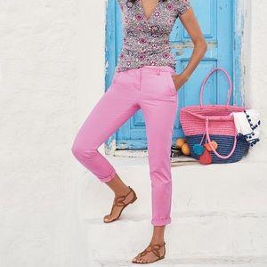 Boden Rachel Chino Pants in Lavender Rose